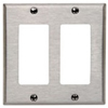 Leviton 2-Gang Decora Wall Plate-Stainless Steel