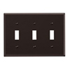 Leviton 3-Gang Toggle Switch Wall Plate-Brown