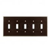 Leviton 5-Gang Toggle Switch Wall Plate-Brown