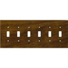 Leviton 6-Gang Toggle Switch Wall Plate-Brown