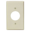 "Leviton 1-Gang 1.406"" Hole Receptacle Wall Plate-Ivory"