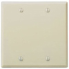 Leviton 2-Gang Blank Wall Plate-Ivory