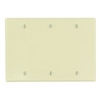 Leviton 3-Gang Blank Wall Plate-Ivory