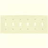 Leviton 6-Gang Toggle Switch Wall Plate-Ivory