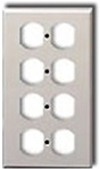 Leviton 4-Gang Duplex Receptacle Wall Plate-Ivory