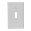 Leviton 1-Gang Toggle Switch Wall Plate-Gray