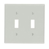 Leviton 2-Gang Toggle Switch Wall Plate-Gray