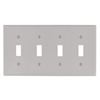 Leviton 4-Gang Toggle Switch Wall Plate-Gray