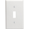 Leviton 1-Gang Toggle Switch Wall Plate-White