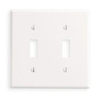 Leviton 2-Gang Toggle Switch Wall Plate-White