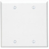 Leviton 2-Gang Blank Wall Plate-White