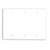 Leviton 3-Gang Blank Wall Plate-White