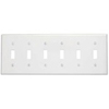Leviton 6-Gang Toggle Switch Wall Plate-White