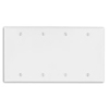 Leviton 4-Gang Blank Wall Plate-White