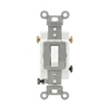Leviton 20A Toggle Switch Single-Pole Commercial Grade-White