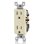 Decora Tamper Resistant Duplex Receptacle Quickwire Push-In and Side Wired