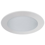 "Liton 6"" Line Voltage Shower Trim Albalite Deco Frosted Glass Albalite Lens-Mocha"