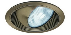 "Liton Lighting 6"" Line Voltage Regressed Eyeball w/ Baffle Trim-Mocha"