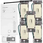 Lutron AuroRa Wireless Lighting Control Kit-Light Almond