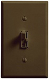 Lutron 600W Ariadni Toggle Dimmer Single-Pole-Brown