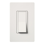 Lutron Claro Decorator Rocker Switch Single-Pole-White