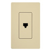 Lutron Claro Decorator Cable Jack Insert-Ivory