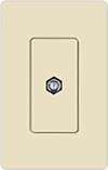 Lutron Claro Decorator Cable Jack Insert-Light Almond