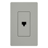 Lutron Claro Decorator Phone Jack Insert-Gray