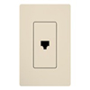 Lutron Claro Decorator Phone Jack Insert-Light Almond