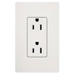 Lutron Claro Decorator Receptacle-Gray