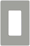 Lutron 1-Gang Claro Decorator Screwless Wall Plate-Gray