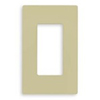 Lutron 1-Gang Claro Decorator Screwless Wall Plate-Ivory