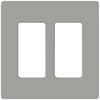 Lutron 2-Gang Claro Decorator Screwless Wall Plate-Gray