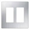 Lutron 2-Gang Claro Decorator Screwless Wall Plate-Stainless Steel