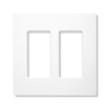 Lutron 2-Gang Claro Decorator Screwless Wall Plate-White