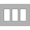 Lutron 3-Gang Claro Decorator Screwless Wall Plate-Gray