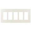 Lutron 5-Gang Claro Decorator Screwless Wall Plate-Light Almond