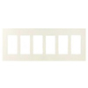 Lutron 6-Gang Claro Decorator Screwless Wall Plate-Almond