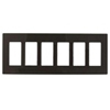 Lutron 6-Gang Claro Decorator Screwless Wall Plate-Brown