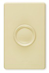 Lutron 600W Rotary Dimmer 3-Way Push On-Off-Ivory