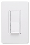 600W Diva Satin Colors Magnetic Low Voltage Dimmer Single-Pole-Satin White