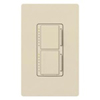 Lutron Maestro Combination Dual 300W Dimmers-Light Almond