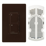 Lutron Maestro Combination 300W Dimmer and 1.0A Fan Controller-Brown