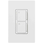 Lutron Maestro Combination 300W Dimmer and 1.0A Fan Controller-White