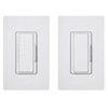 600W Maestro Duo Dimmer and Companion Dimmer Set with Wall Plates-White