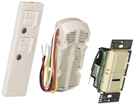 IR Combination 300W Dimmer and 1.0A Fan Controller Package-Light Almond