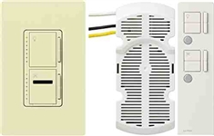 Lutron Maestro IR Combination 300W Dimmer and 1.0A Fan Controller-Almond