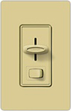 Lutron 600W Skylark Slide Dimmer Single Pole-Ivory