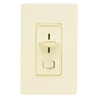 Lutron 600W Skylark Slide Dimmer Single Pole-Light Almond