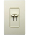 Lutron Skylark Combination Dual 300W Dimmers Single-Pole-Almond